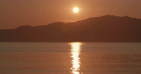 seixo : A sunset on Mediterranean Sea, Elba Island (Italy)
