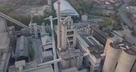 storage tank : Aerial view of an industrial plant Stock Footage