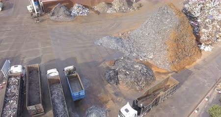 demirli : Aerial view of metal waste. Recycling industry. Separation of ferrous metals.