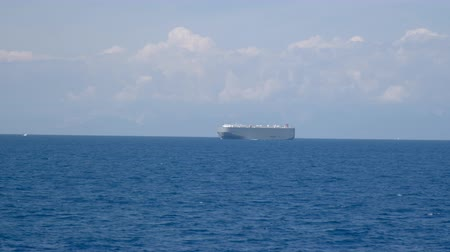 Car and truck carrier vessel in the Mediterranean Sea