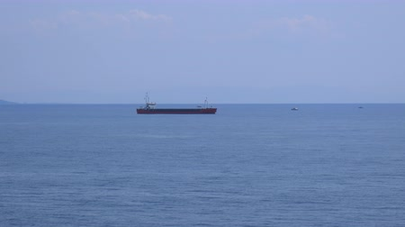 A cargo ship in the Mediterranean Sea