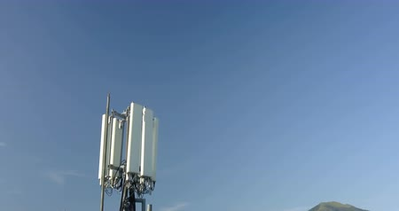 mastro : Aerial view of Cell Phone Antenna on blue sky