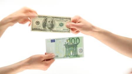 převod : Currency exchange on white background