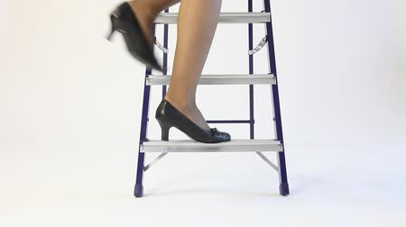 bas nylons : affaires Unrecognizable descendre les escaliers