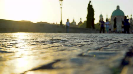 Чарльз : Paving stone on Charles bridge