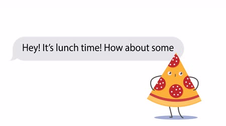 emoticon : People discussing about food delivery using mobile messaging application and funny stickers. Cartoon 2D animation. PNG+Alpha. Just add your background, proposition and contacts.