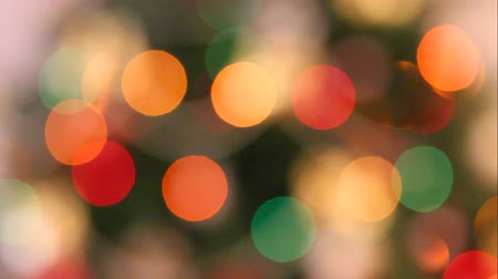 video effects : defocused christmas lights background