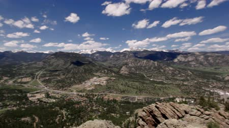 rochoso : Panoramic view of Rocky mountains, Colorado, USA Vídeos