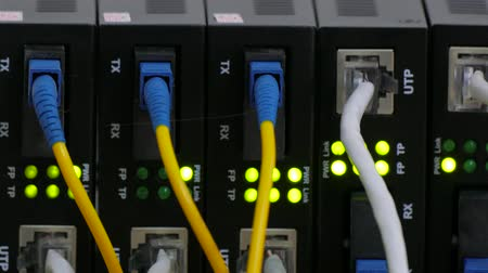 Telecommunication equipment of network cables in a datacenter of mobile operator