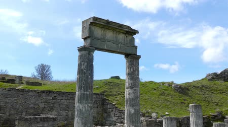 Columns of the Panticapaeum. Ancient Greek city, founded in the end of VII century BC. e. people from Miletus on the site of modern Kerch.