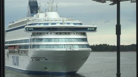 balti tenger : White ferry ship Tallink in West Harbour of Helsinki