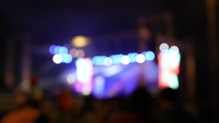 vdo : spotlight on concert stage, music festival, Stock Footage