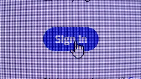 url : Mouse clicking sign in button, closeup shot