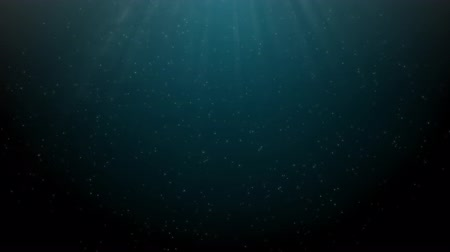 vdo : ocean background with sunray, underwater scene