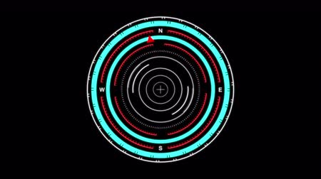crosshair : Futuristic User Interface HUD, digital compass, scan for a target