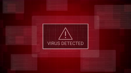 уведомление : Virus detected Warning Notification on digital system