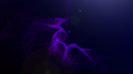 vdo : Glowing line background, streak light, technology Concept 3d animation