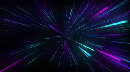 hyperspace : Abstract Hyperspeed jump on space, out space travel Stock Footage