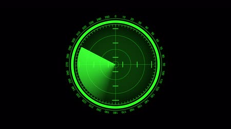 marine technology : Futuristic radar screen, searching target
