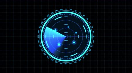 vdo : Futuristic radar screen, searching target