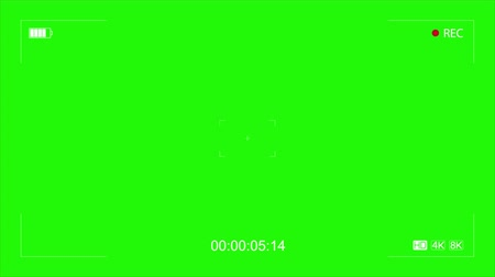 viewfinder : Camera Recording Viewfinder with green Screen Stock Footage