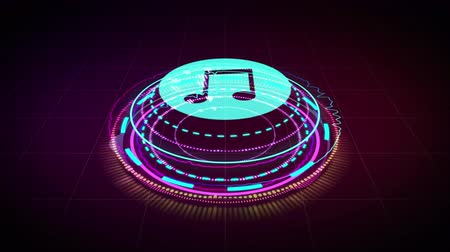 hang : Music equalizer, for music party, 4k footage