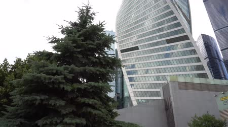 moscow : Moscow-City International Business Center Panorama 4K Stock Footage