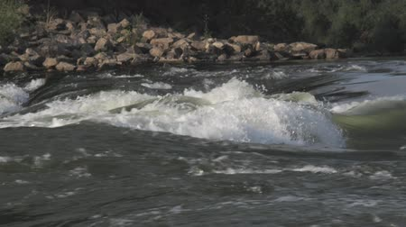 outdoor : River rapids, fishing Stock Footage