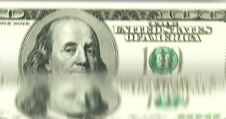 time machine : Counting money fast [loopable] 100 dollar bills. Bank currency counter machine quickly enumerates banknotes.  Source: CGI rendering. Stock Footage