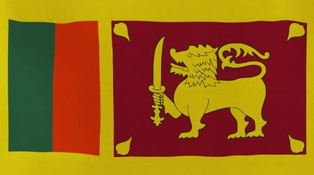 socialist republic : [loopable] Flag of Sri Lanka.  Sri Lankan official flag gently waving in the wind. Highly detailed fabric texture for 4K resolution. 15 seconds loop.  Source: CGI rendering. Stock Footage