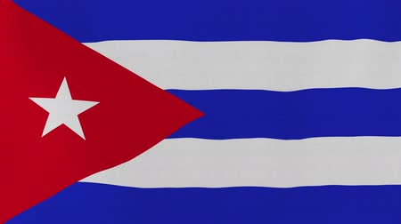 kübalı : [loopable] Flag of Cuba.  Cuban official flag gently waving in the wind. Highly detailed fabric texture for 4K resolution. 15 seconds loop.  Source: CGI rendering.