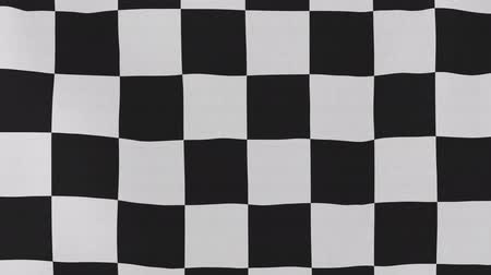 acabamento : [loopable] Racing flag waving in the wind.  Highly detailed fabric texture for 4K resolution. 15 seconds loop.  Source: CGI rendering.