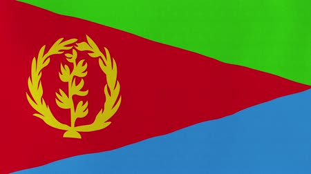 er : [loopable] Flag of Eritrea.  Eritrean official flag gently waving in the wind. Highly detailed fabric texture for 4K resolution. 15 seconds loop.  Source: CGI rendering. Stock Footage