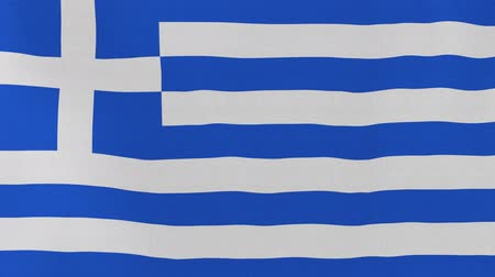 computação gráfica : [loopable] Flag of Greece.  Greek official flag gently waving in the wind. Highly detailed fabric texture for 4K resolution. 15 seconds loop.  Source: CGI rendering. Stock Footage