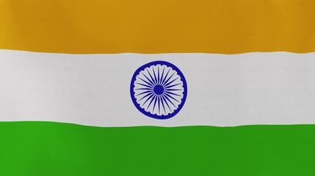 hint : [loopable] Flag of India.  Indian official flag gently waving in the wind. Highly detailed fabric texture for 4K resolution. 15 seconds loop.  Source: CGI rendering.