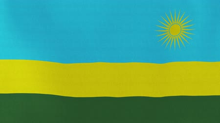 rwandan : [loopable] Flag of Rwanda.  Rwandan official flag gently waving in the wind. Highly detailed fabric texture for 4K resolution. 15 seconds loop.  Source: CGI rendering.