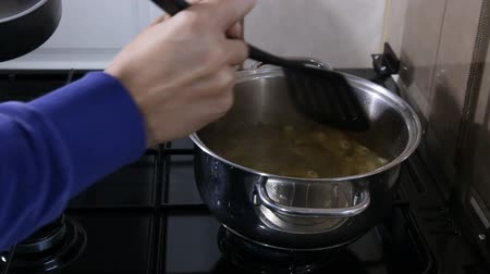 ramen : cook noodles as background Closeup Stock Footage