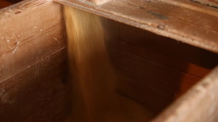мучной : corn flour at the mill closeup