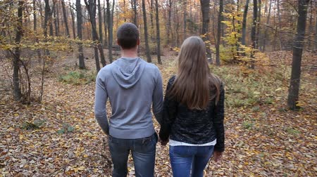 natura : couple walking in nature Wideo