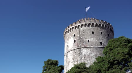 makedonia : The White Tower in Thessaloniki, Greece
