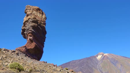 el teide : The Cinchado rock the Teide volcano in Tenerife island, The Canaries