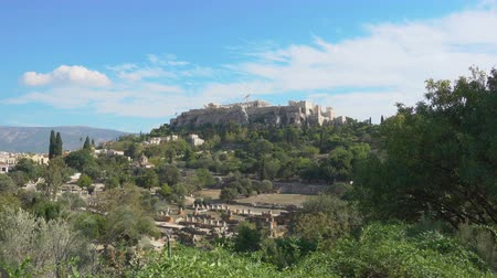 акрополь : Acropolis hill in Athens, Greece. Zoom out