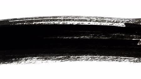 stain : Abstract Black Ink Long Brush Strokes