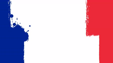 tahy : Flag of France - Drawing French Flag by Brush Strokes