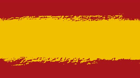 tahy : Flag of Spain - Drawing Spanish Flag by Brush Strokes Dostupné videozáznamy
