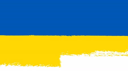 tahy : Flag of Ukraine - Drawing Ukrainian Flag by Brush Strokes
