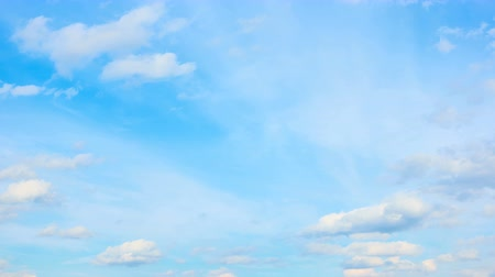 sky only : Blue sky and fast motion of two layers of clouds - time lapse Stock Footage
