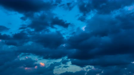 bulutluluk : Sky and clouds at sundown - Day to night timelapse