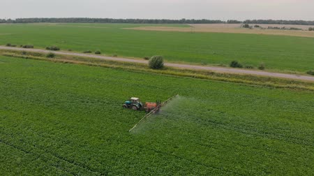 spraying of sugar beet shooting with quadrocopter