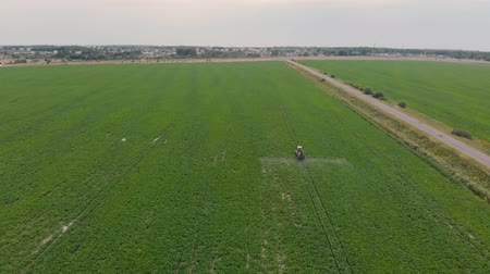 monoculture : spraying sugar beet aerial photography